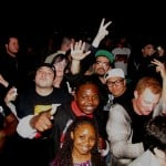 Luicidal, StrongArm, Timtastic in the crowd at Bone Thugs show