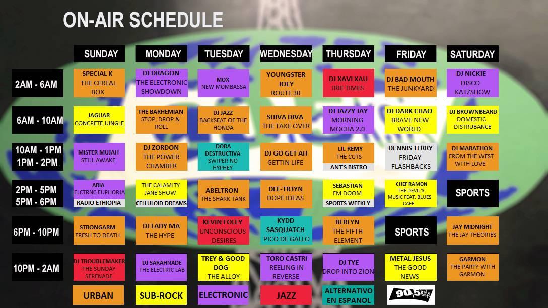 Spring 2015 Schedule FINAL