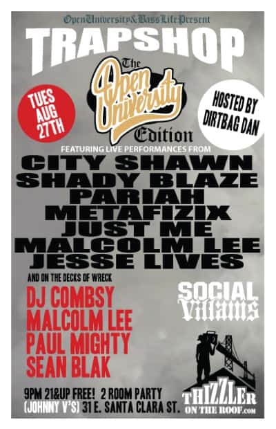 (URBAN EVENT) Trap Shop @ Johnny V's (8/27) Featuring @CityShawn @ShadyBlaze @PariahTheMC & More