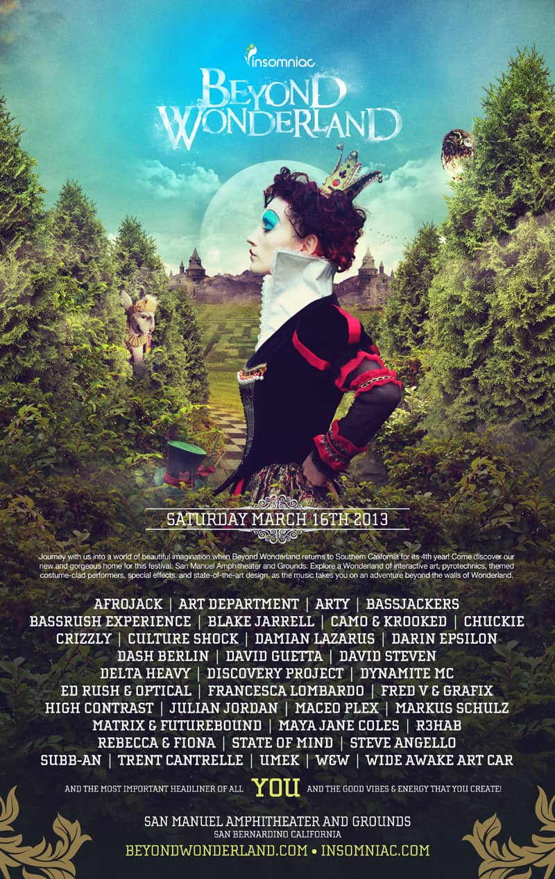 Beyond Wonderland And YOU. Imagine The Possibilities.