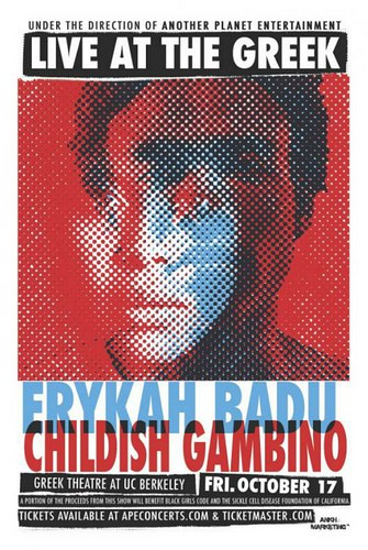 Childish Gambino And Erykah Badu @ The Greek Theater
