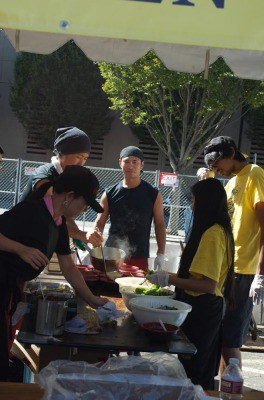 Raman Fest- Serving food