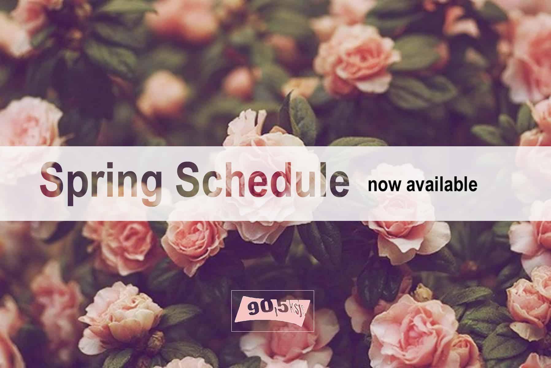 Spring schedule 2015