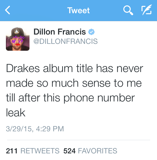 dj snake gives out dillon francis phone number at ultra