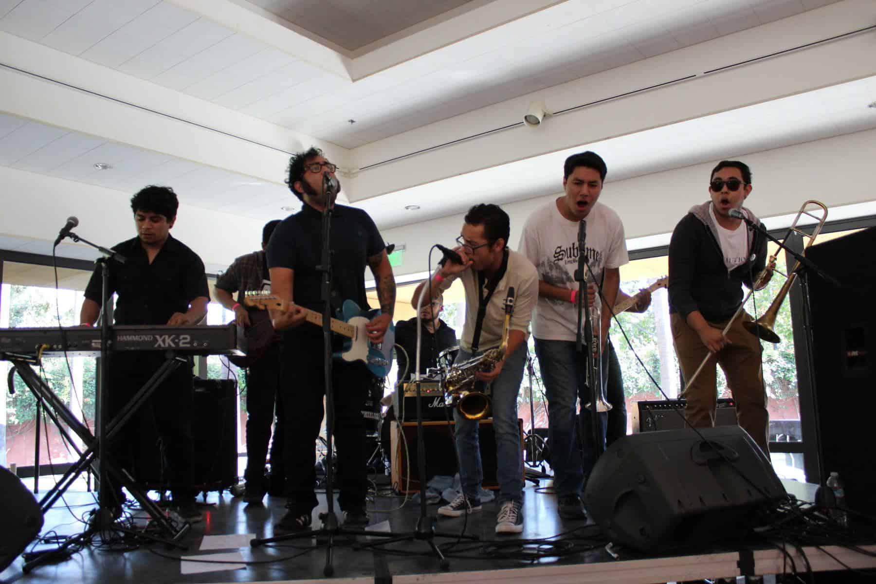 Six Member Band Performing