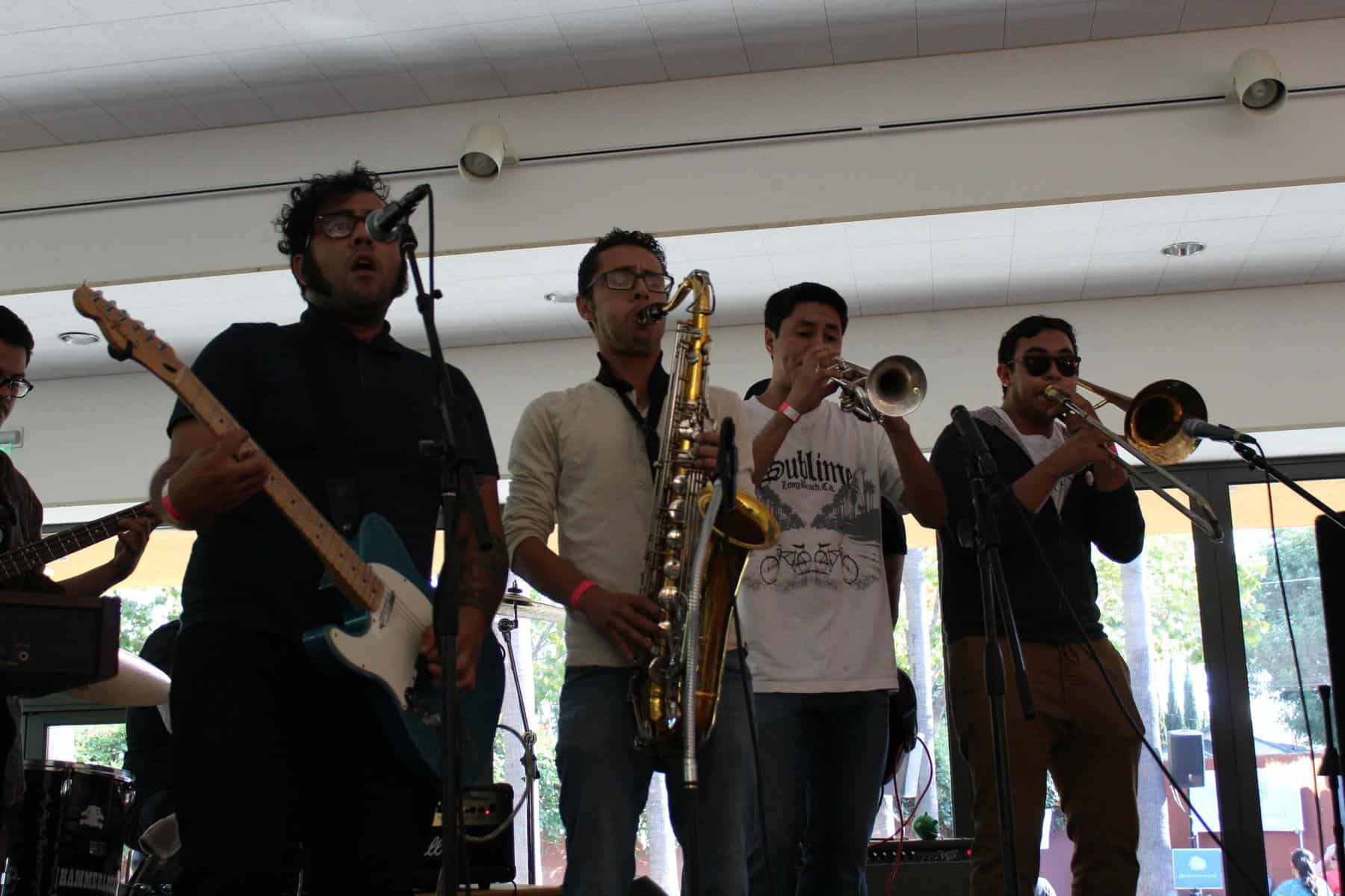 Guitarist And Horn Section
