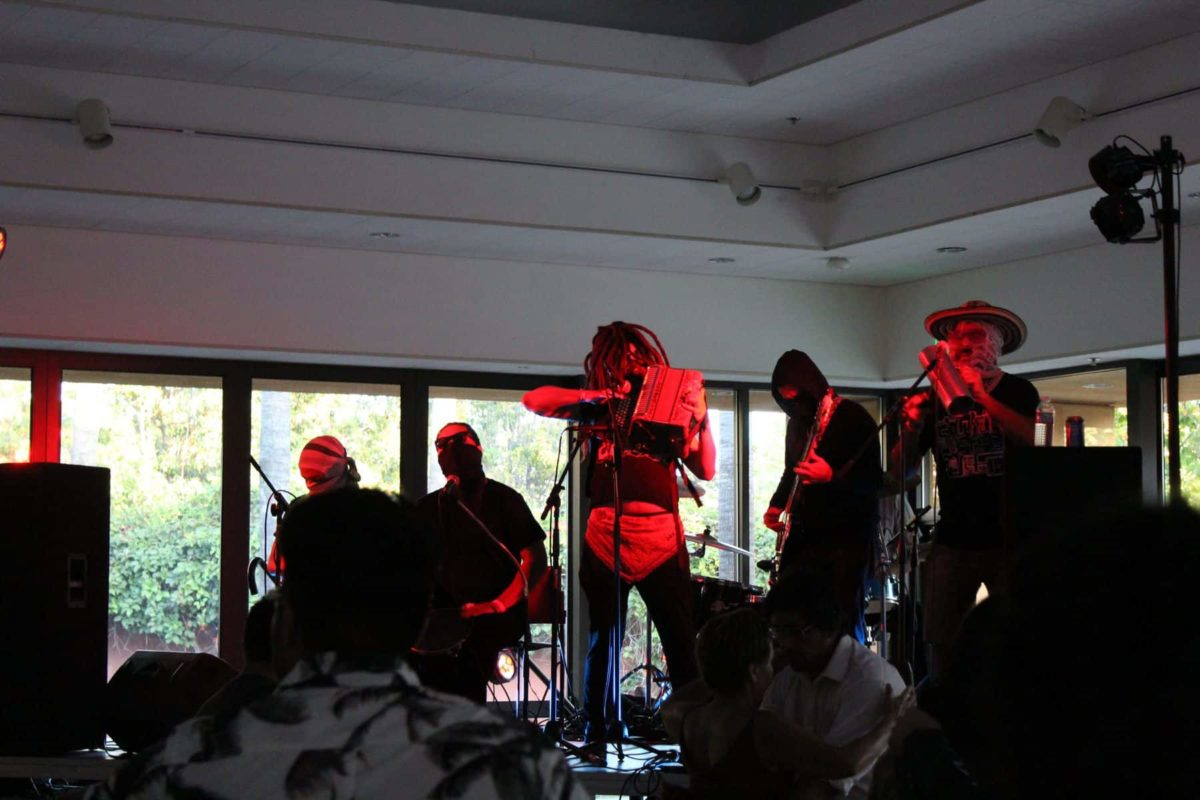 Accordionist With Band