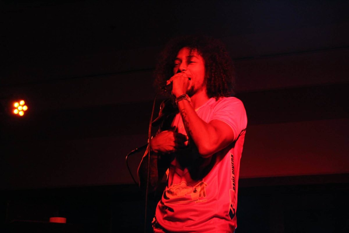 Man Performing With Microphone